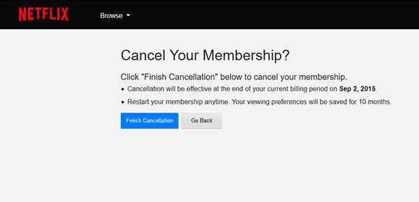 Netflix Cancel Your Membership