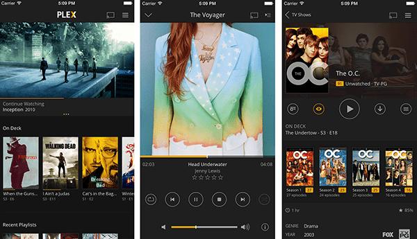 Plex's iOS app