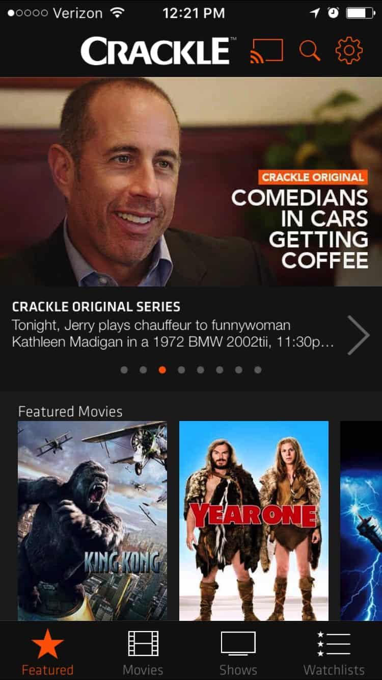 Crackle on iOS