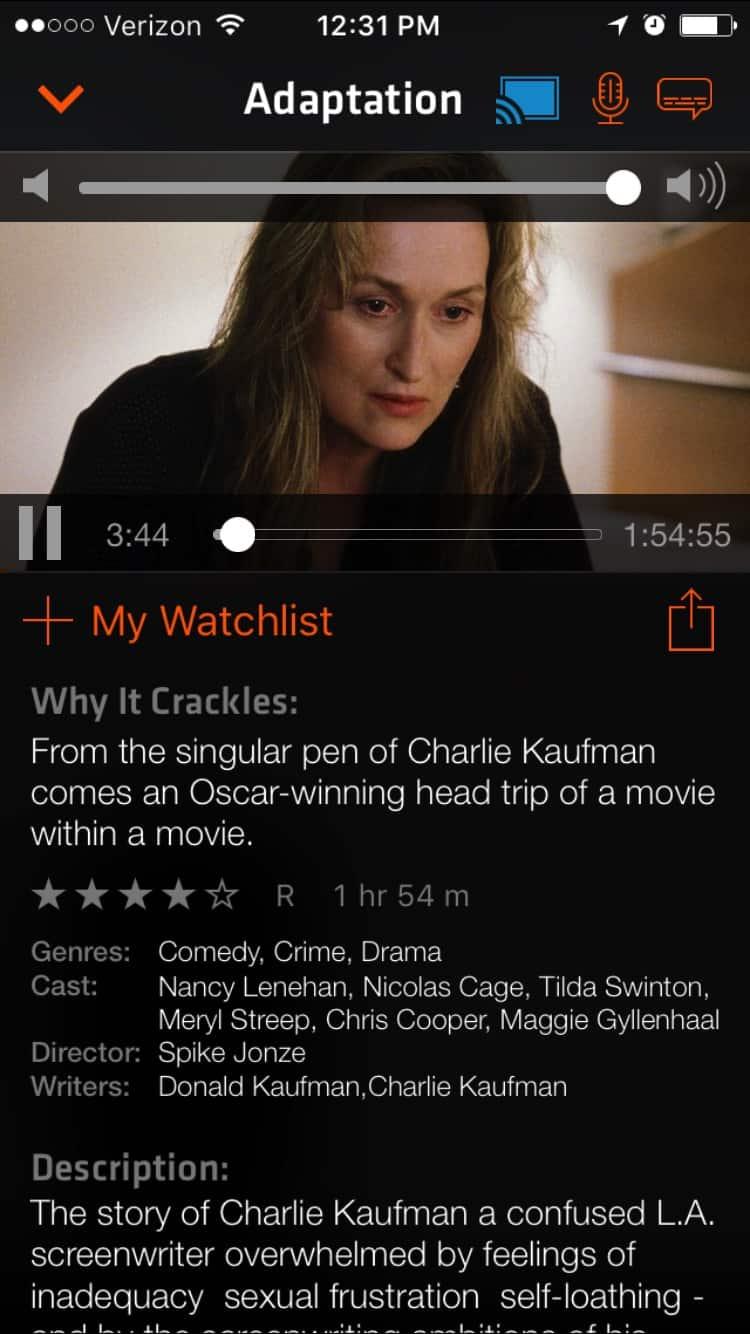 Crackle on iOS2