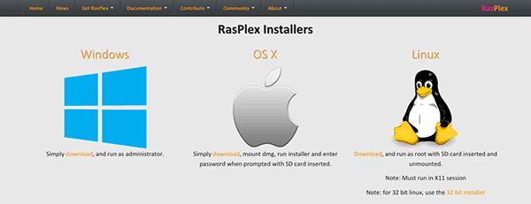 RasPlex installers