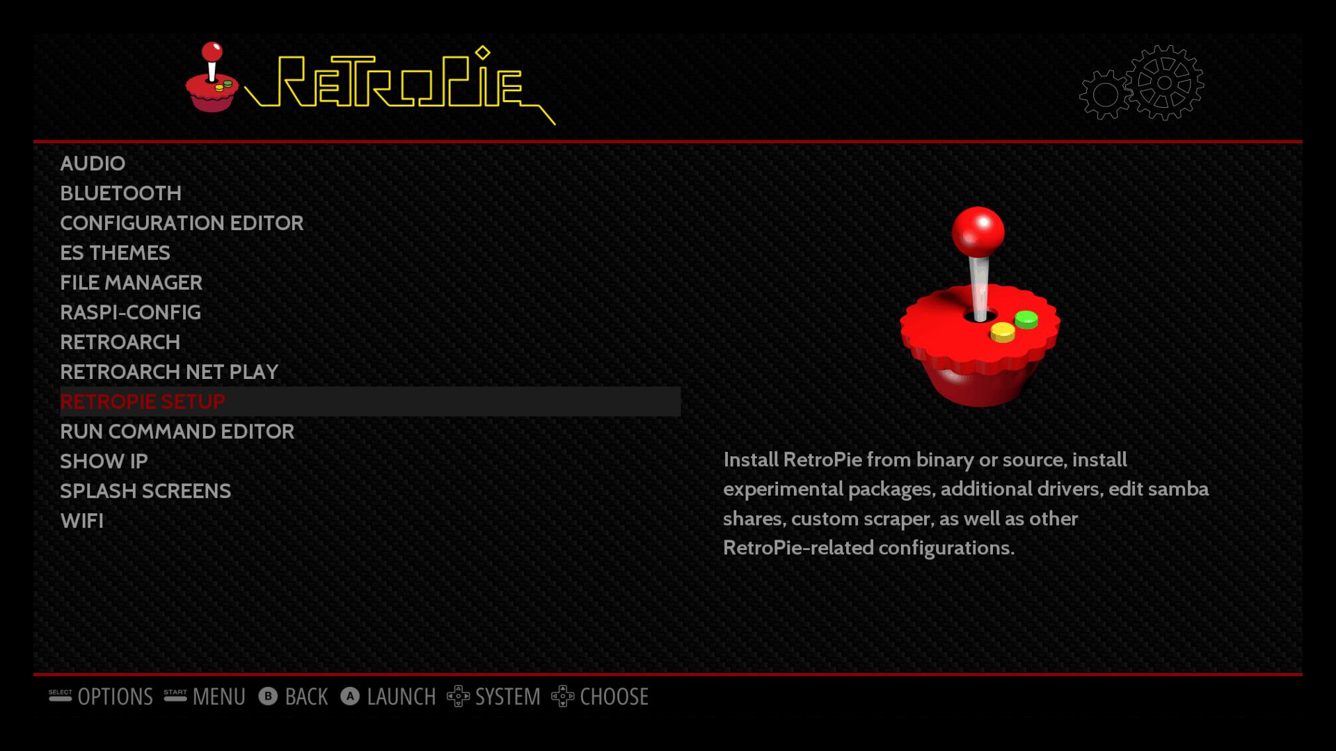 Kodi on RetroPie - RetroPie setup