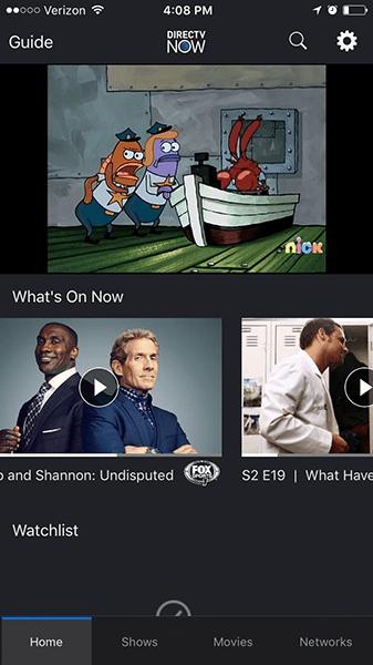 DirecTV Now running on iOS