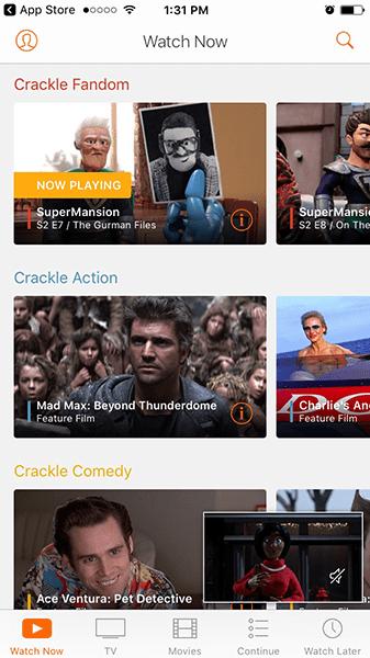 Crackle screenshot