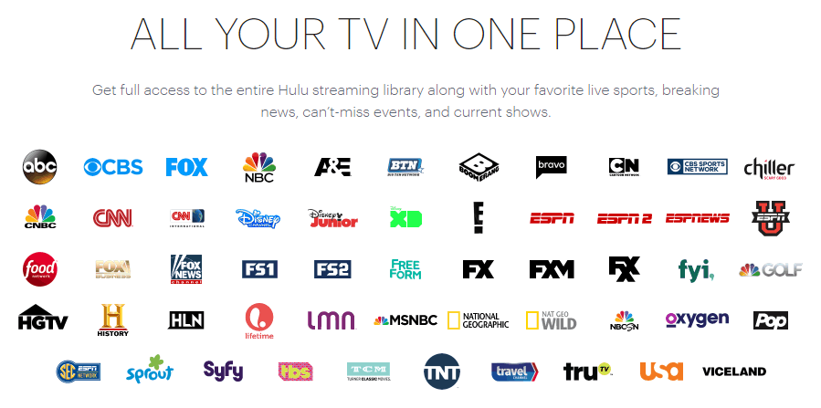Hulu with Live TV review - channel lineup