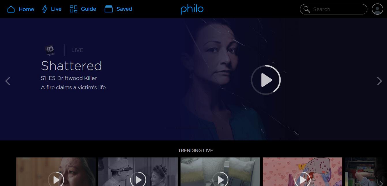 Philo web app