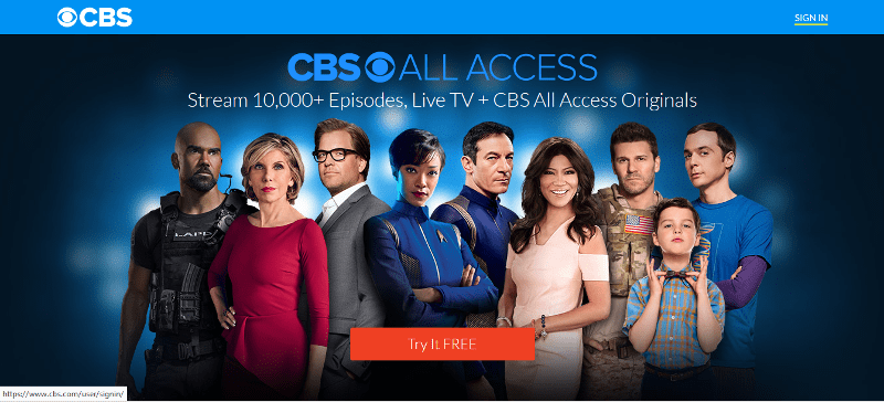 How to Cancel CBS All Access - Log in using the button in the upper right.