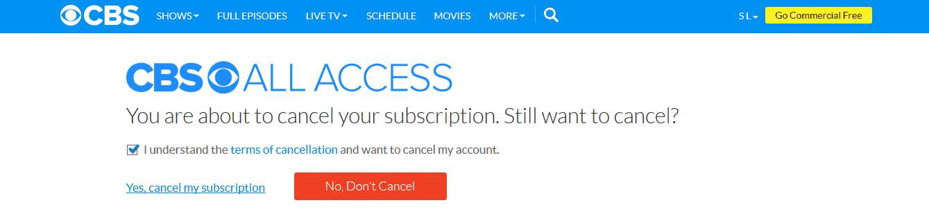 how to cancel origin access