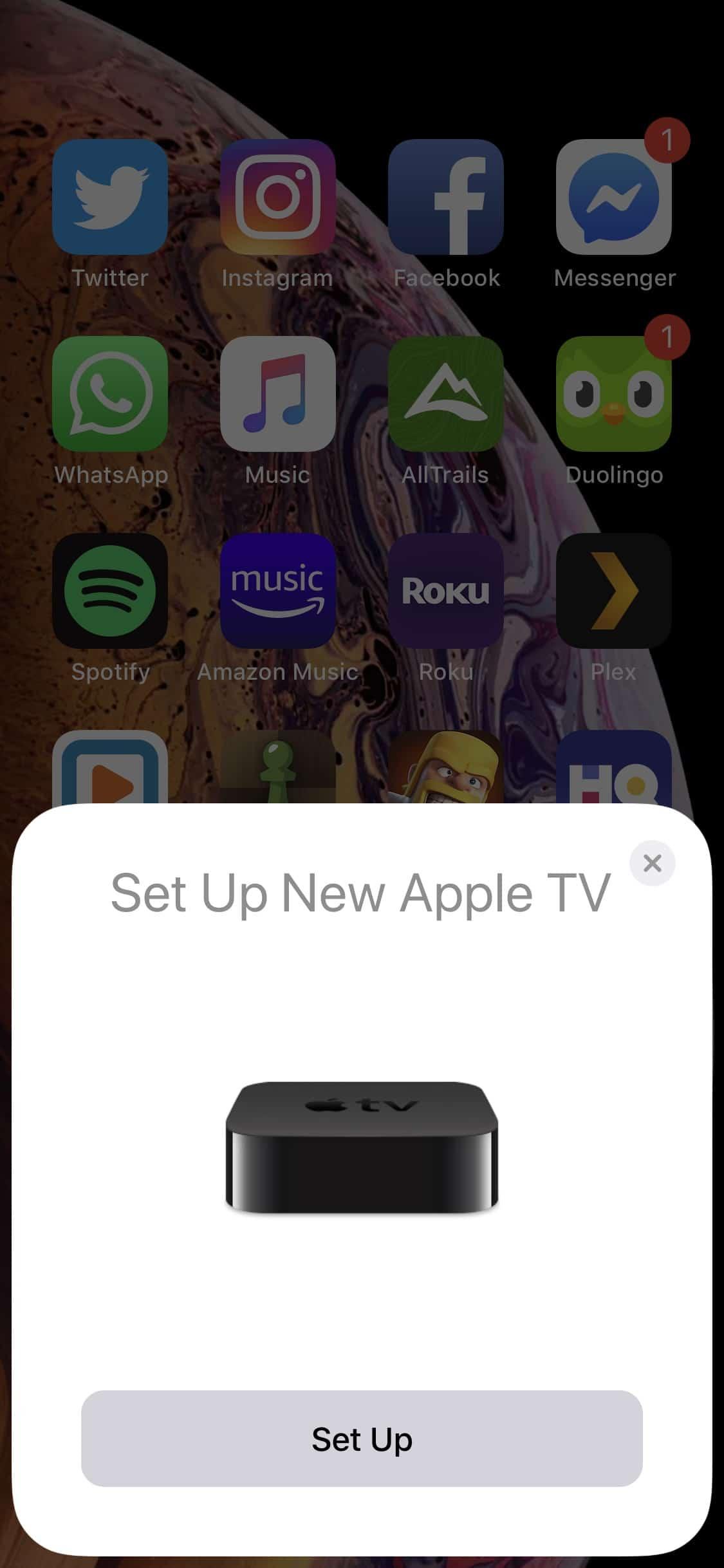 Set up Apple TV 4K on iOS