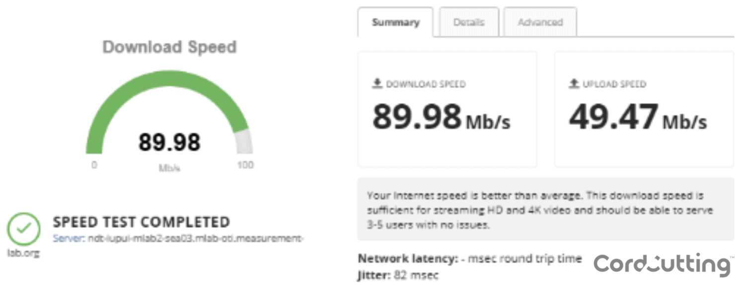CenturyLink Speed Test