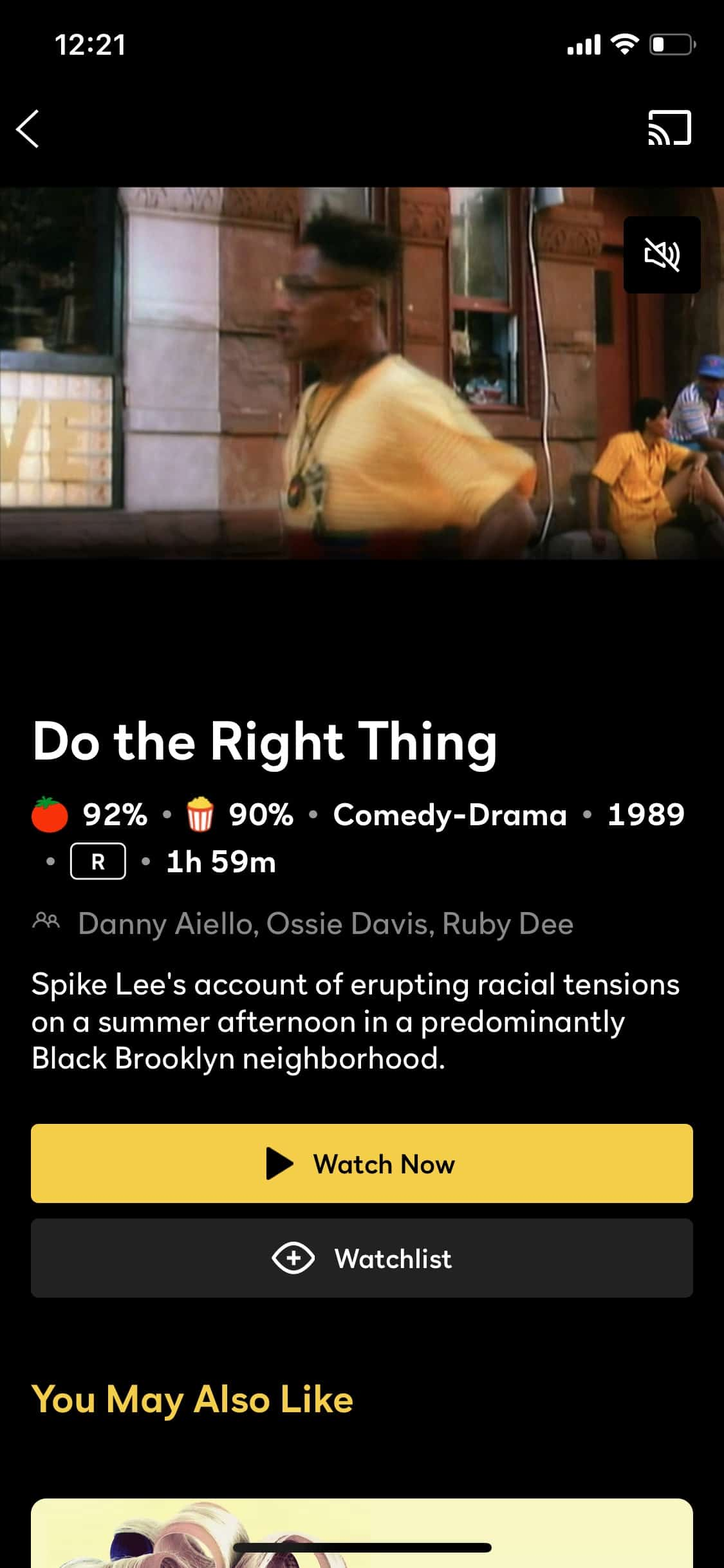 Peacock offers movies like Do the Right Thing (1989)