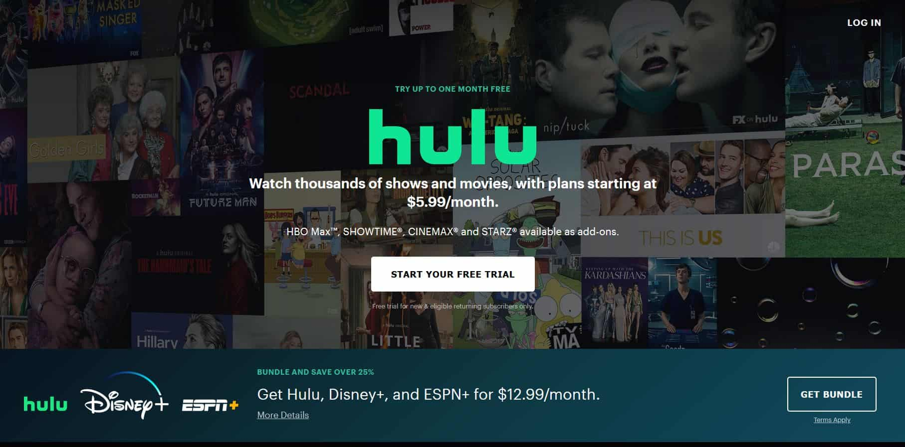 Hulu Homescreen