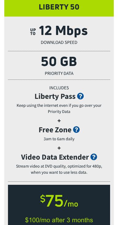exede liberty 50