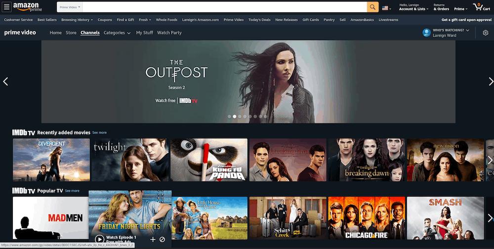 IMDB TV on Amazon Prime Video