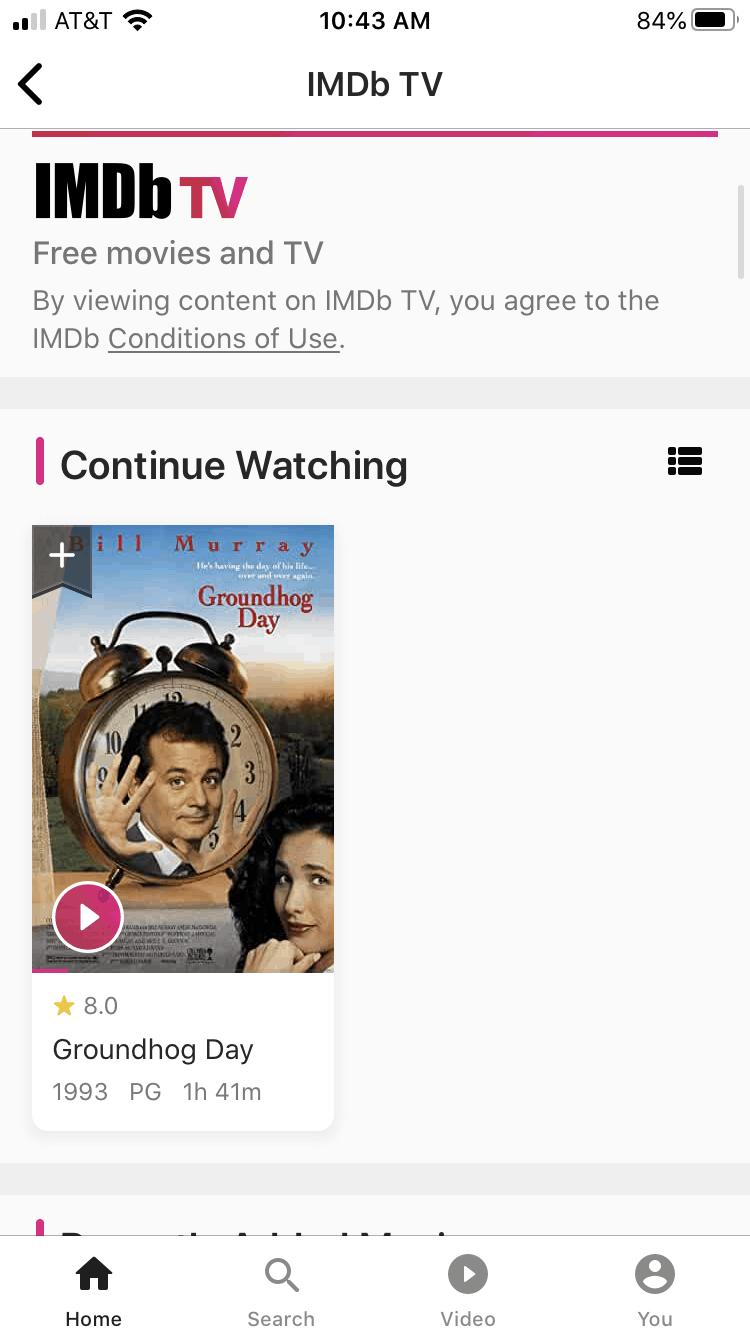 IMDb TV app