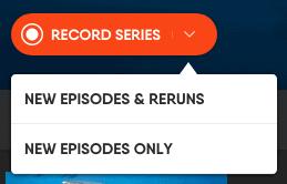 fuboTV - Browser Cloud DVR Options