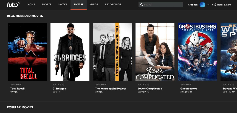 fuboTV - Browser Movies On Demand