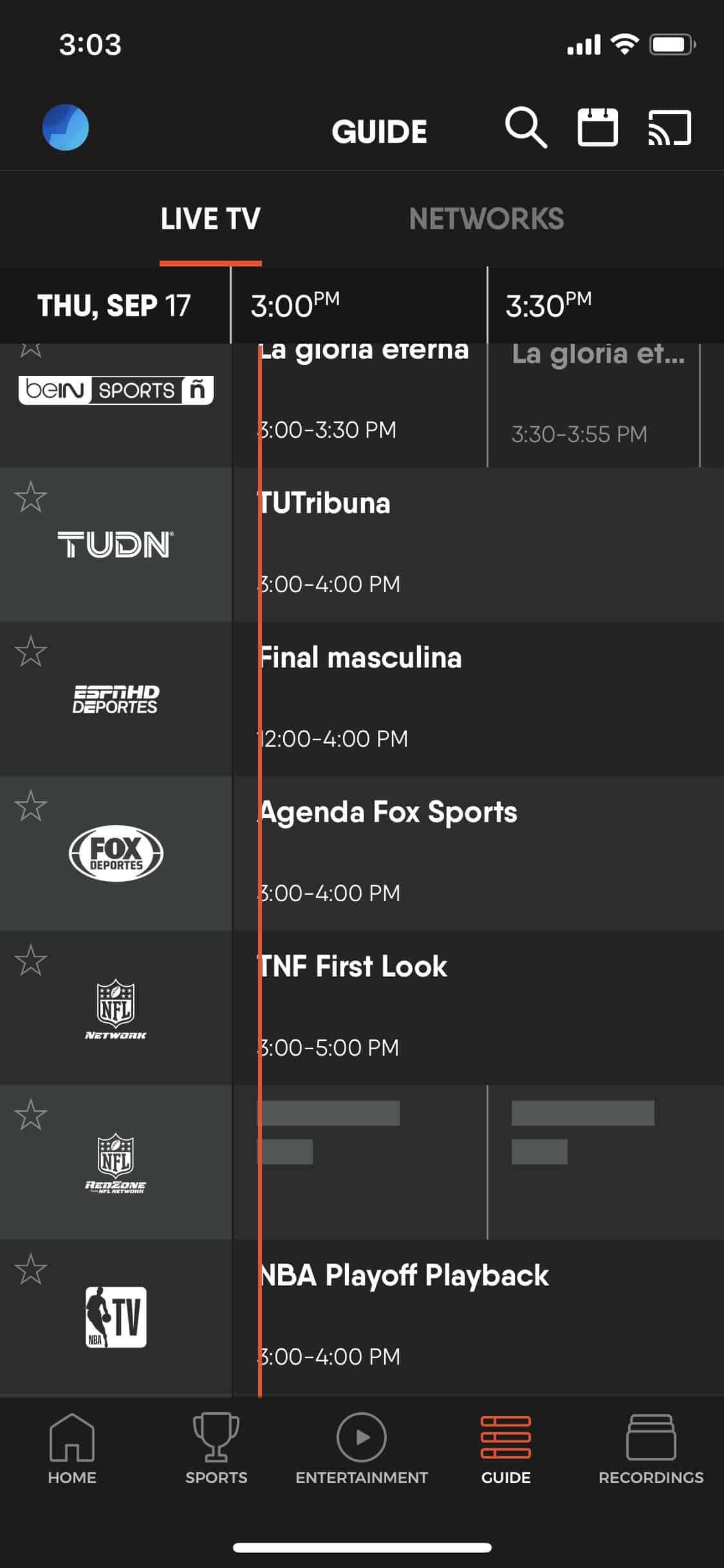 fuboTV - iOS TV Guide