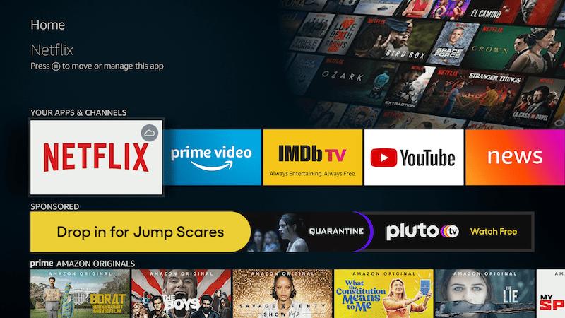 Fire TV Homepage
