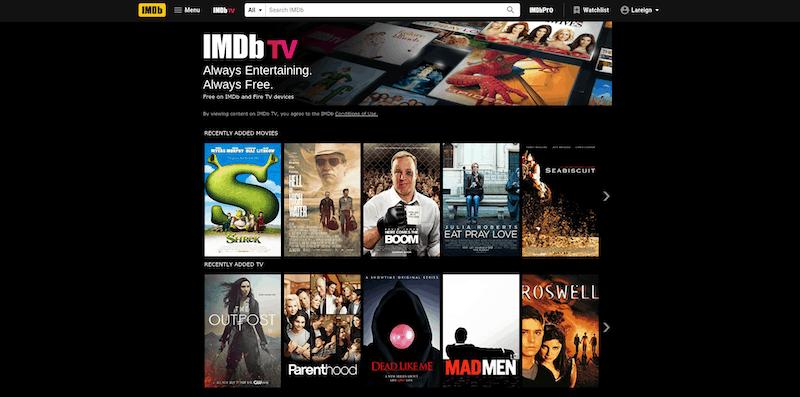 IMDb TV Content