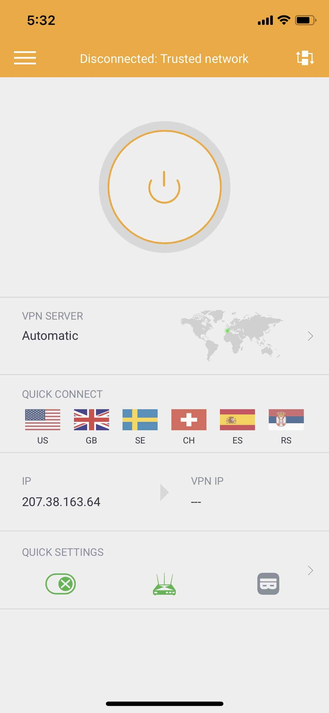 Disconnected from Private Internet Access VPN
