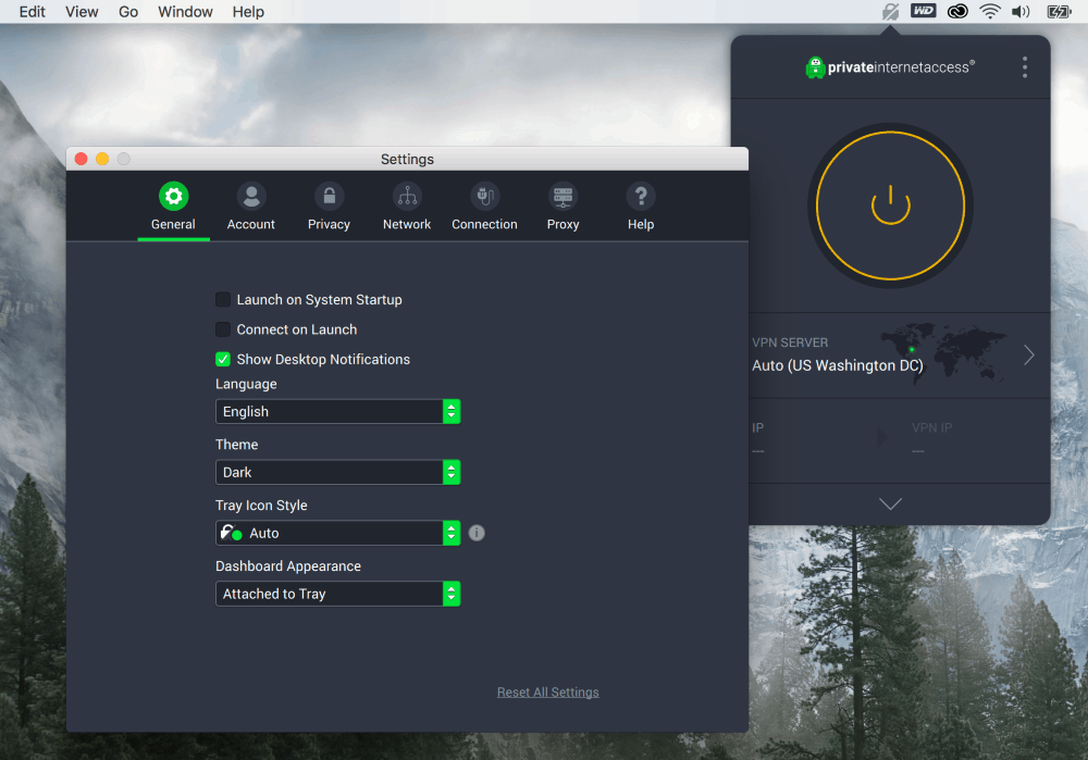 Private Internet Access VPN - Mac Settings