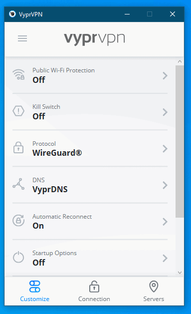 VyprVPN Settings