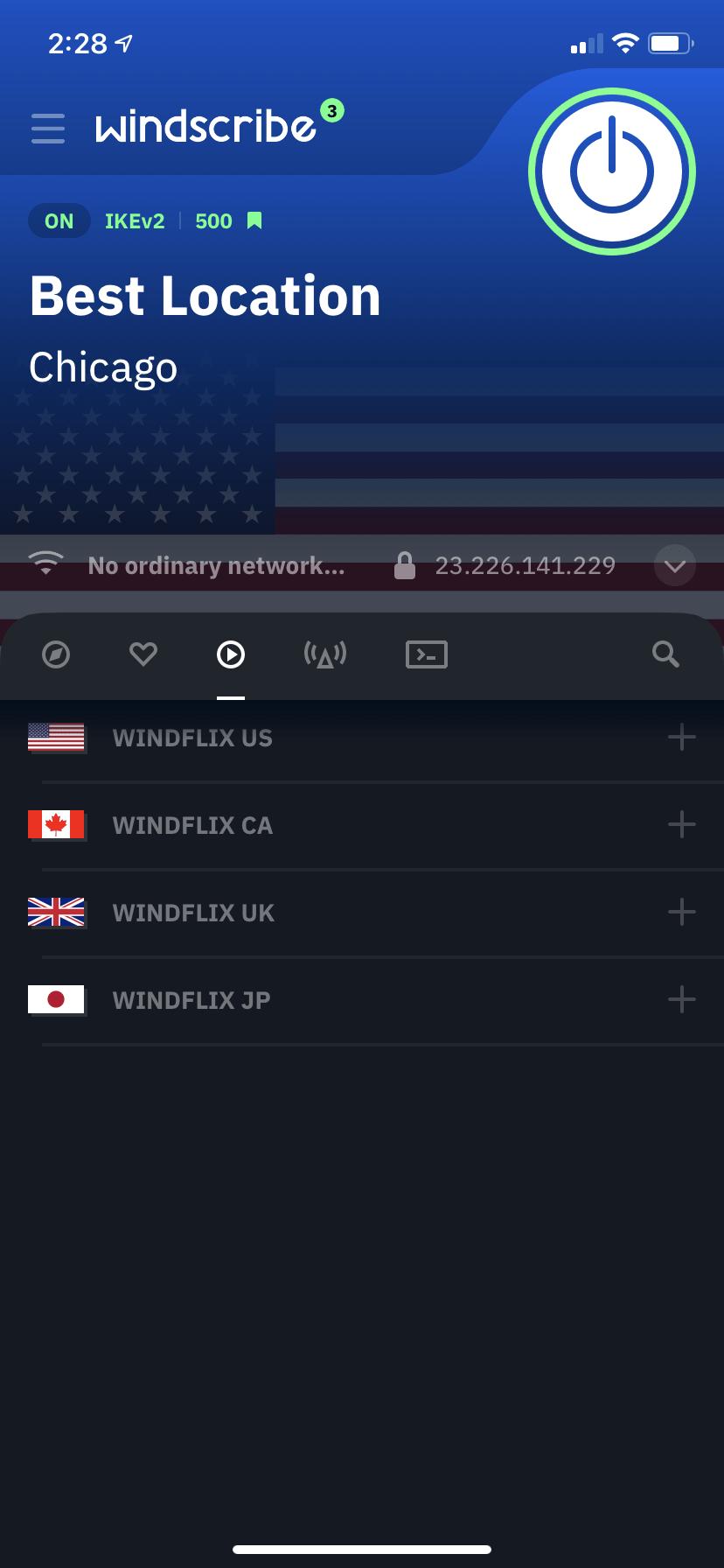 Windscribe VPN App