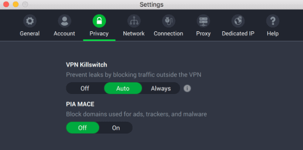 "Private Internet Access' ""kill switch"""