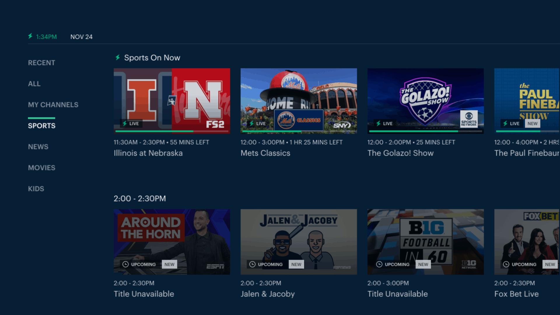 Hulu + Live TV - Fire TV - Sports