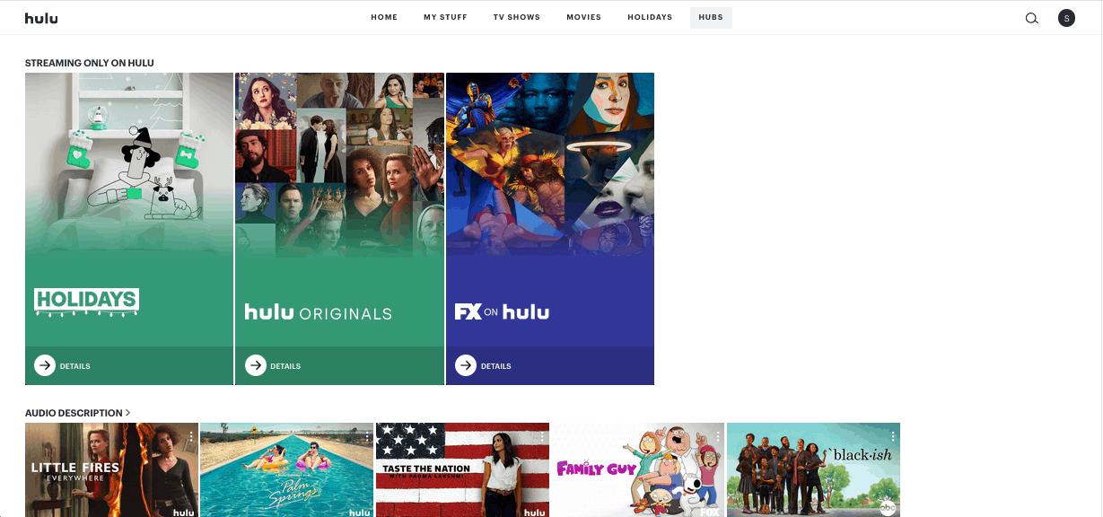 Hulu OD - browser - hubs