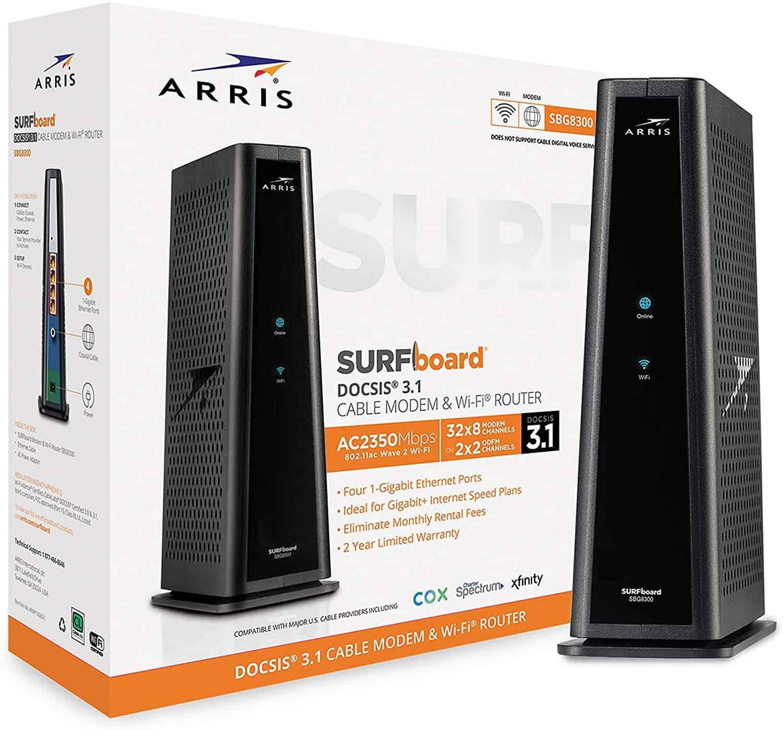 ARRIS SURFboard SBG8300 DOCSIS 3.1 Gigabit Cable Modem