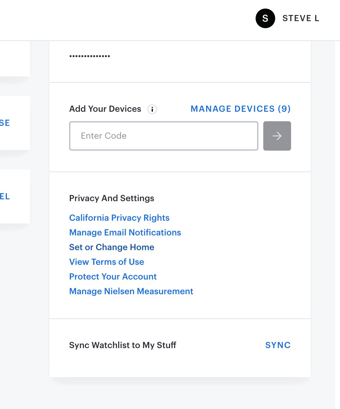 Hulu + Live TV home location settings