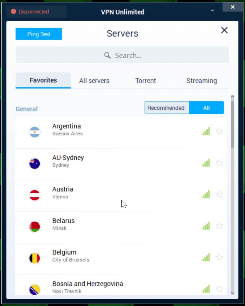 KeepSolid VPN Unlimited servers