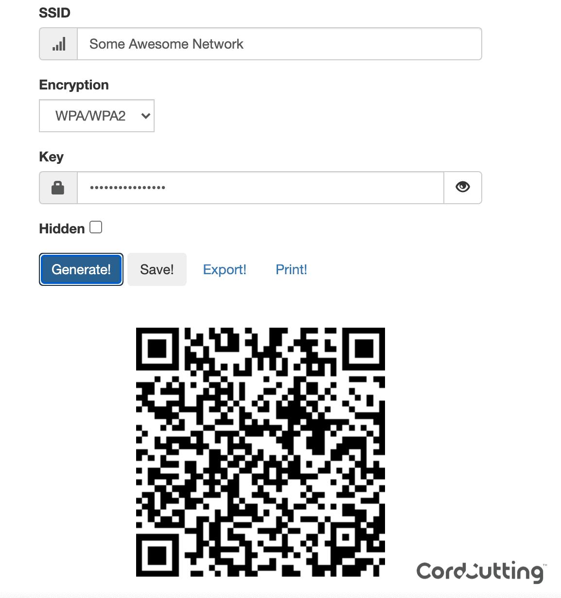 QR Wi-Fi share step 2