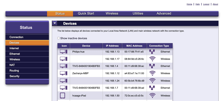 Router menu