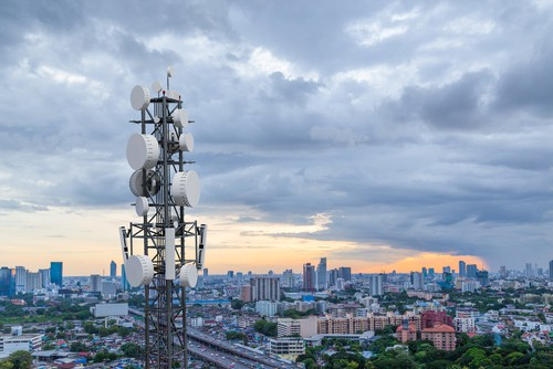 A 5G cell tower